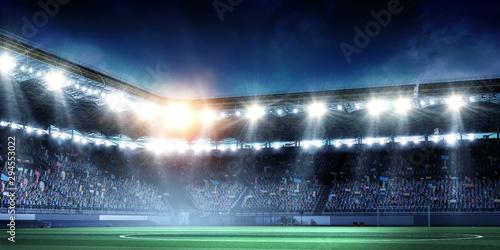 Foto auf AluDibond Stadion Full night football arena in lights