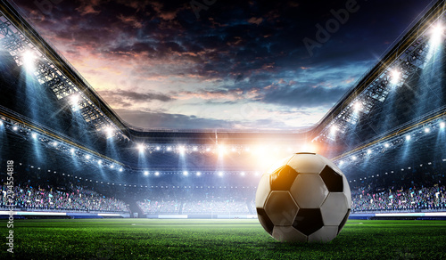 Canvas Prints Wall Decor With Your Own Photos Full night football arena in lights
