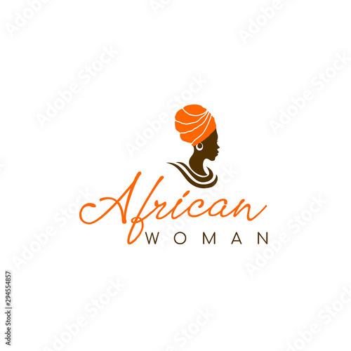 Fotografía Beautiful African woman logo