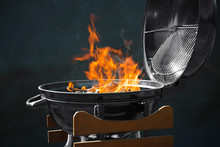 New Modern Barbecue Grill With...