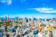 canvas print picture - 東京タワー 都市風景