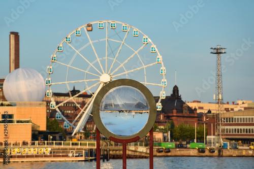 The skyline of Helsinki city