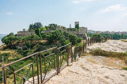 Fényképezés  Castello di lombardia by Rocca di Cerere in Enna Sicily, Italy.