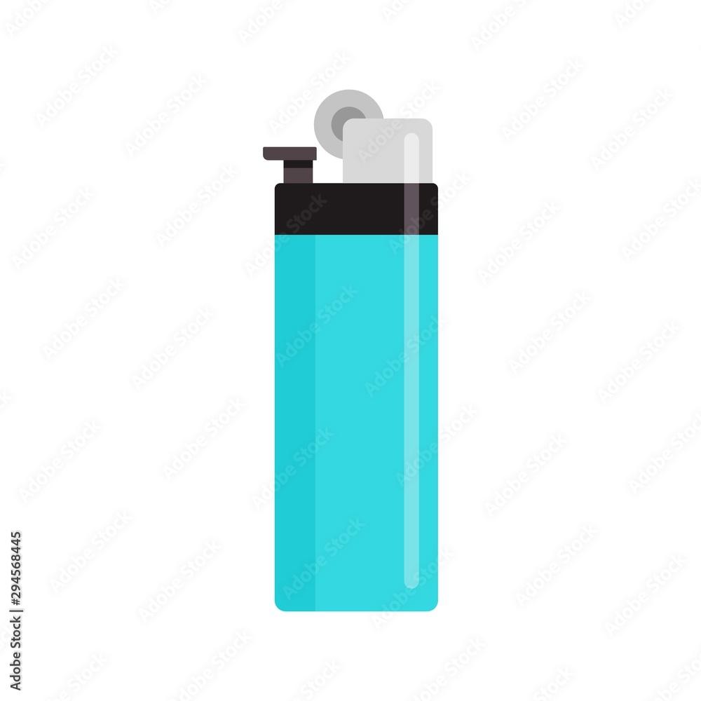 Fototapeta Classic cigarette lighter icon. Flat illustration of classic cigarette lighter vector icon for web design
