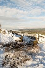 Ilkley Moor In Snow. Yorkshire