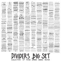 Set Of Dividers Drawing Illust...