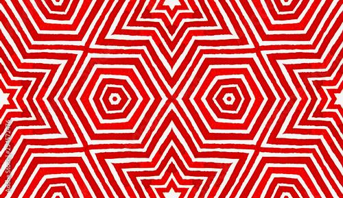 Fototapeta  Wine red Geometric Watercolor. Amusing Seamless Pa