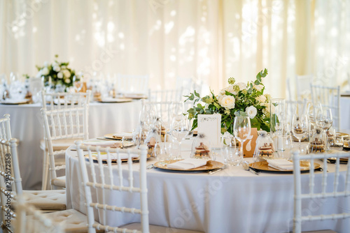 Photo Luxury wedding table decoration