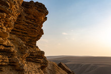 Cliff Of Sedimentary Rocks Aga...