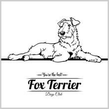 Fox Terrier Dog - Vector Illustration For T-shirt, Logo And Template Badges