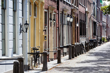 Upper Class Neighborhood With Historical Houses In Delft