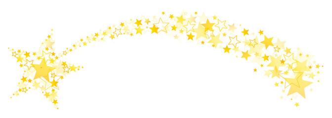 Sternschnuppe Aus Großen Und Kleinen Goldenen Sternen