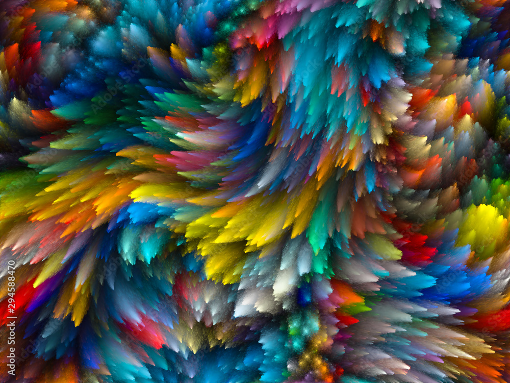 Fototapety, obrazy: Swirling Paint