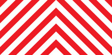Red And White Chevron Background