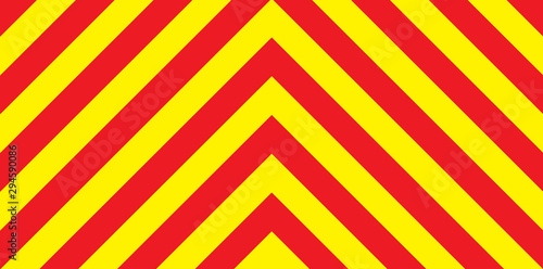 Red And Yellow Chevron Background Wallpaper Mural