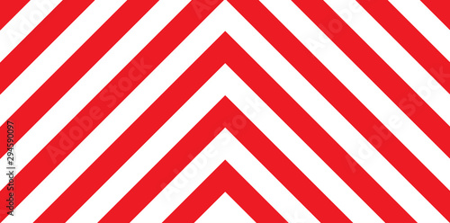 Photo Red And White Chevron Background