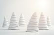 Leinwanddruck Bild - abstract white christmas tree isolated on white background