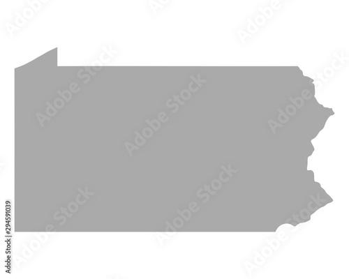 Fényképezés Karte von Pennsylvania