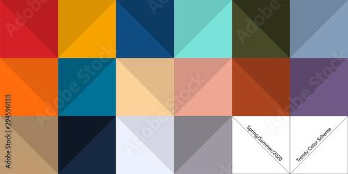 Fotografija Trendy color palette for spring and summer season of 2020
