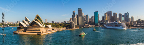 Sydney Skyline Panorama 1 Canvas Print