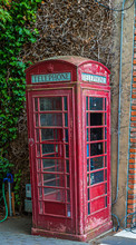 Abandoned Old Red Phone Booth ...