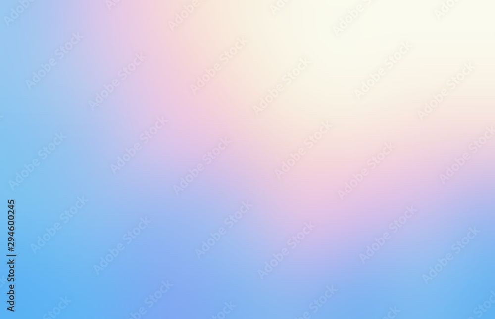 Fototapety, obrazy: Shiny wonderful sky abstract background. Yellow pink blue iridescent gradient defocus pattern. Amazing dreaming heaven illustration.