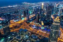 Aerial View Of Dubai At Night ...