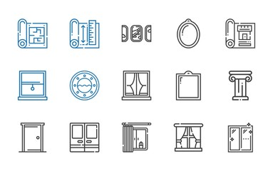 architectural icons set