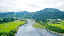 新潟県十日町の春の田...
