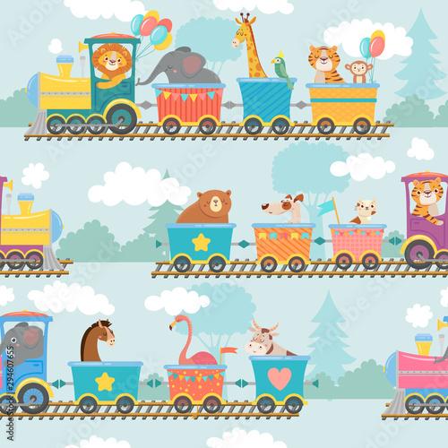bezszwowe-zwierzeta-na-wzor-pociagu-szczesliwe-zwierze-w-wagonie-kolejowym-pociagach-i-dzieciach-slon-tygrys-i-zyrafa-na-opakowaniu-lokomotywy-wallpapper