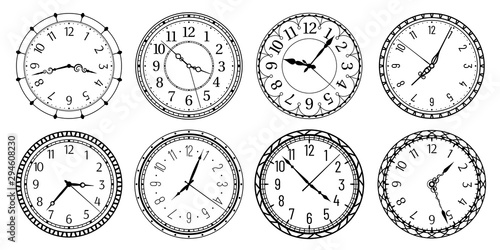 Vintage round clock face Wallpaper Mural