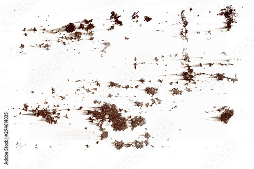 pieces of rust isolated on a white background. Fototapeta