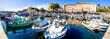 Leinwandbild Motiv old town and harbor of ajaccio on corsica