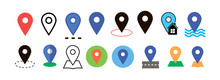 Placeholder Flat Symbol Set, Location Vector Icons