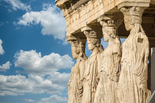 Caryatids At Erechtheum Of Par...