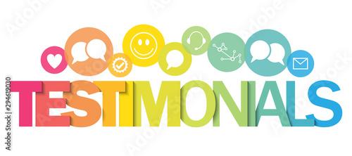 Obraz TESTIMONIALS vector concept typography banner - fototapety do salonu