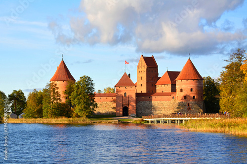 Trakai Island Castle Museum is one of the most popular tourist destinations in Lithuania, houses a museum and a cultural centre.