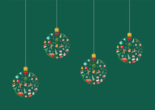 Christmas Balls Made Of Decora...