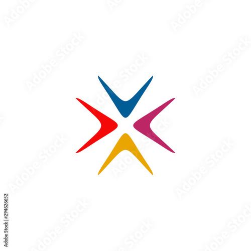 Boomerang weapon icon logo design vector template Canvas Print