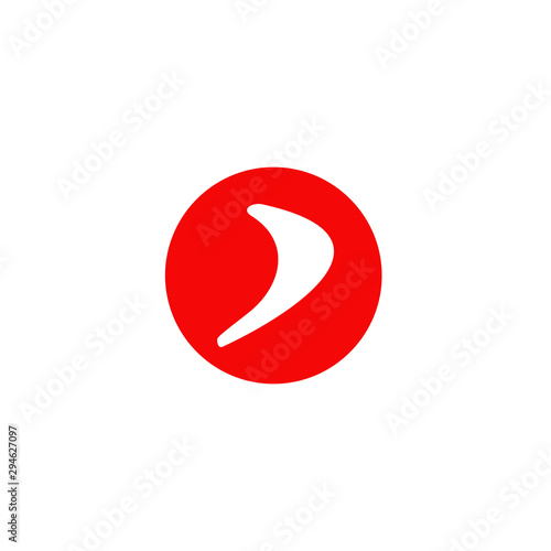 Photo Boomerang weapon icon logo design vector template