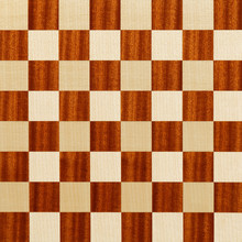 Wooden Brown Checkered Abstrac...