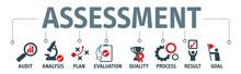 Banner Assessment Vector Illustration Concept
