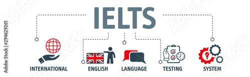 Fotografia  Banner IELTS - english test exam education concept