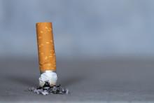 Cigarette On Black Background
