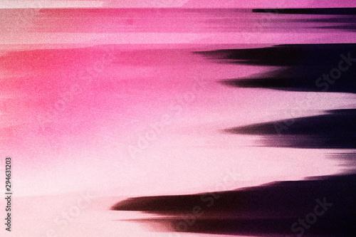 Foto auf AluDibond Rosa Lovey Neon Glitch texture