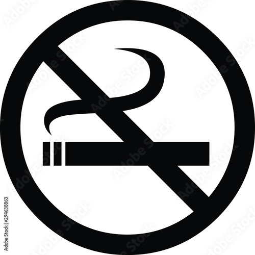 illustration vector icon of no smoking warning Wallpaper Mural