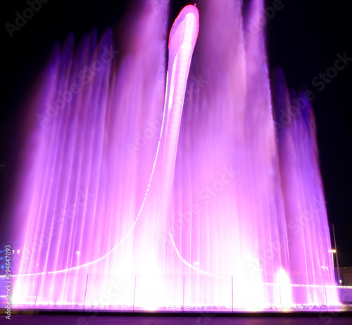 canvas print motiv - schankz : Dancing fountain in the park