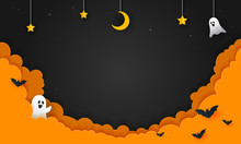 Halloween Night Background Vec...