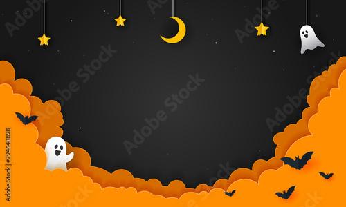 Halloween Night Background Vector illustration Fototapeta