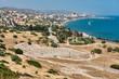Ruins of Sanctuary of Apollo Hylates located at the beach of mediterranean sea. Near an ancient greek town of Kourion. Limassol, Episkopi, Cyprus.